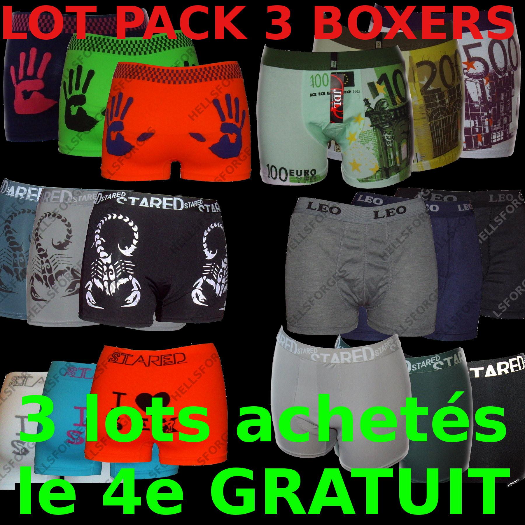 Boxer Homme Journaux M L XL XXL boxreshorts coton men